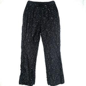 INC International Concepts Sequin Black Pants Sz 8